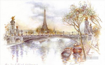 st002B impressionism scenes Parisian Oil Paintings