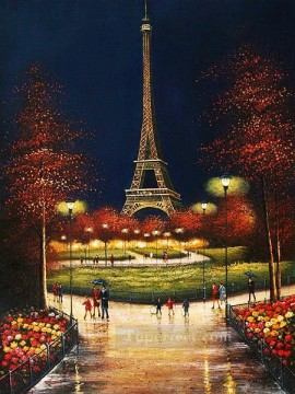 st042B impressionism scenes Parisian Oil Paintings