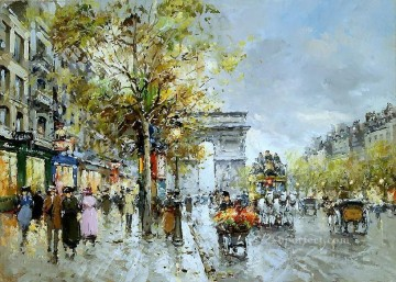 yxj053fD impressionism street scene Paris Oil Paintings