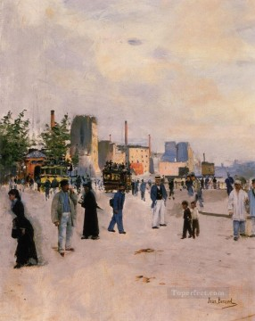 A Morning Stroll Paris scenes Jean Beraud Oil Paintings
