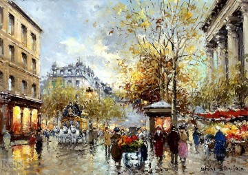 AB boulevard des capucines et madeleine Paris Oil Paintings