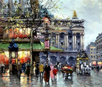 AB caf de la paix opera 1 Paris Oil Paintings