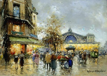 AB gare de lest 2 Paris Oil Paintings