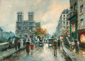 AB notre dame quai saint michel 2 Paris Oil Paintings