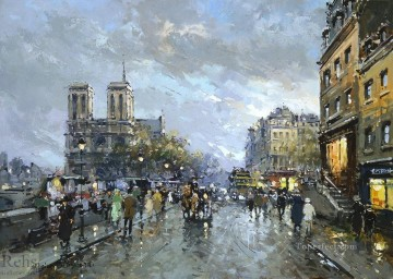 AB notre dame quai saint michel Paris Oil Paintings