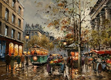 AB place de la madeleine marche aux fleurs Paris Oil Paintings
