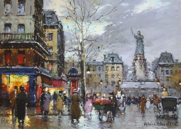 AB place de la republique Paris Oil Paintings