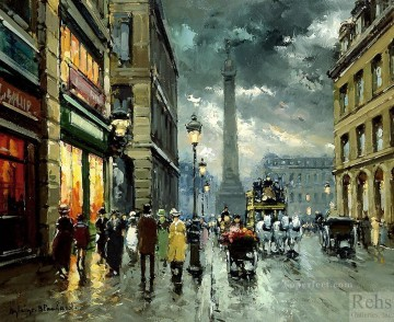 AB place vendome Parisian Oil Paintings