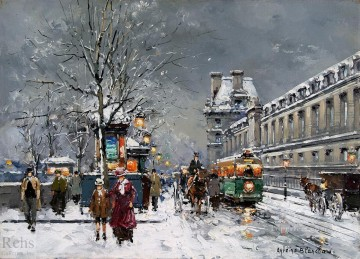 AB porte st denis 4 Parisian Oil Paintings