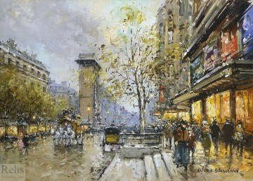 AB porte st denis Parisian Oil Paintings