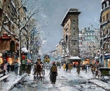 AB porte st denis winter 1 Parisian Oil Paintings