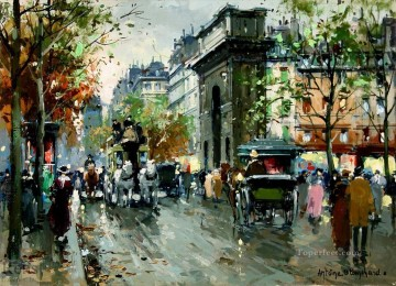 AB porte st martin 3 Parisian Oil Paintings