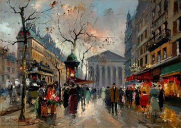 AB rue tronchet la madeleine 2 Parisian Oil Paintings