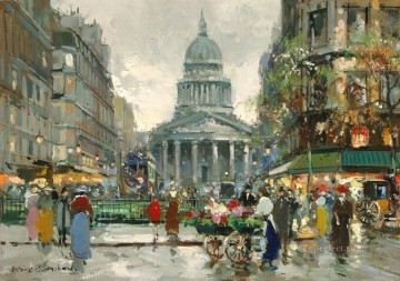 AB the pantheon 1 Parisian Oil Paintings