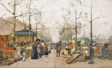 Brocante Eugene Galien Parisian Oil Paintings
