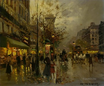 Paris Painting - EC boulevard a paris
