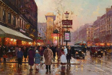 EC boulevard bonne nouvelle porte st denis Parisian Oil Paintings