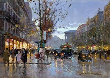 EC boulevard de la madeleine 1 Parisian Oil Paintings