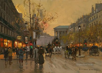 EC boulevard de la madeleine 10 Parisian Oil Paintings