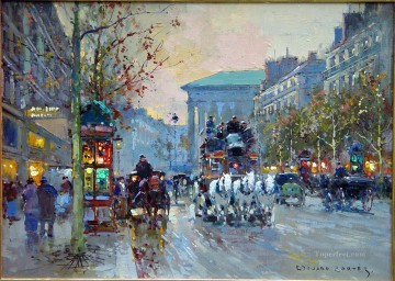 EC boulevard de la madeleine 2 Parisian Oil Paintings