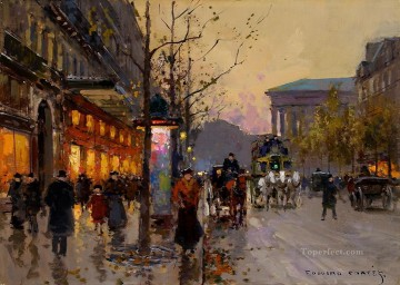 EC boulevard de la madeleine 3 Parisian Oil Paintings