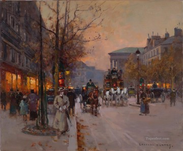 EC boulevard de la madeleine 4 Parisian Oil Paintings