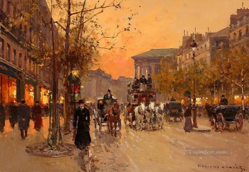 EC boulevard de la madeleine 7 Parisian Oil Paintings