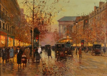 EC boulevard de la madeleine 9 Parisian Oil Paintings