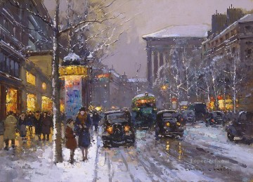 EC boulevard des capucines 1 Parisian Oil Paintings