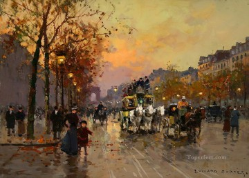 EC champs elysees 4 Parisian Oil Paintings