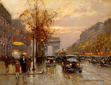 EC champs elysees Parisian Oil Paintings