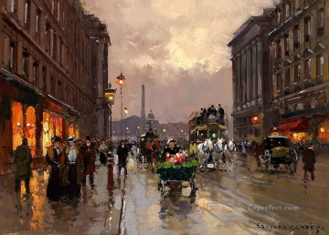 EC concorde and rue royale Parisian Oil Paintings