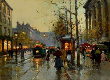 EC flower market at la madeleine 3 Parisian Oil Paintings