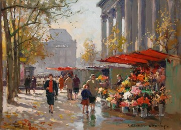 Paris Painting - EC flower seller at la madeleine Parisian