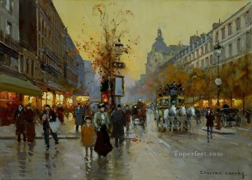 Paris Painting - EC les grands boulevards 1 Parisian
