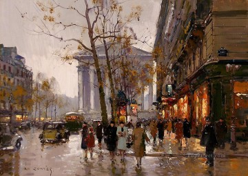 EC madeleine and rue royale paris Oil Paintings