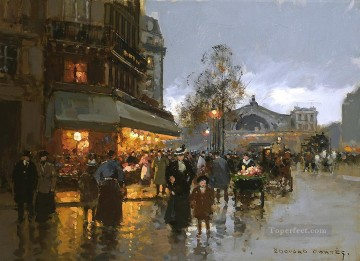 EC north station Parisian Oil Paintings
