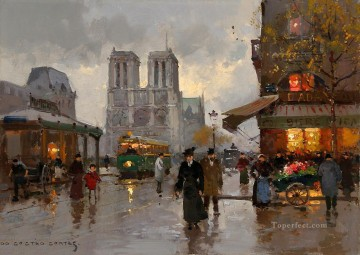 EC notre dame Parisian Oil Paintings