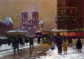 EC notre dame st michael under the snow Parisian