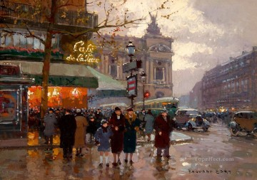 Paris Painting - EC opera and the cafe de la paix Parisian