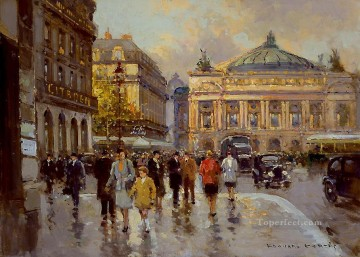 EC place de l opera 1 Parisian Oil Paintings