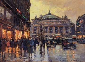 Paris Painting - EC place de l opera Parisian