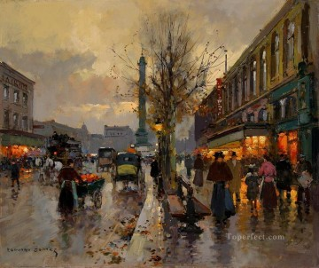 EC place de la bastille 1 Parisian Oil Paintings