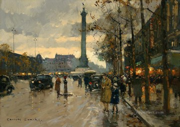 Paris Painting - EC place de la bastille 2 Parisian