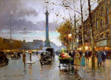EC place de la bastille Parisian Oil Paintings
