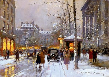 EC place de la madeleine 3 Parisian Oil Paintings