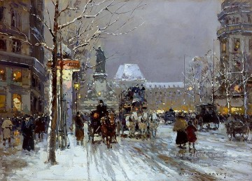 EC place de la republique 1 Parisian Oil Paintings