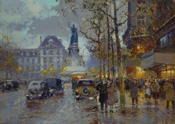 Paris Painting - EC place de la republique 2 Parisian