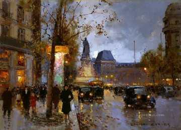 EC place de la republique 4 Parisian Oil Paintings
