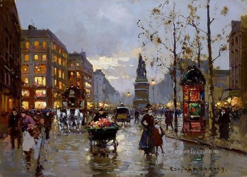 EC place de la republique clichi Parisian Oil Paintings
